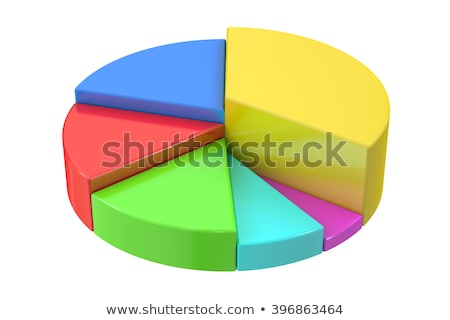 circle metallic pie charts 3d rendering stock photo © andreasberheide