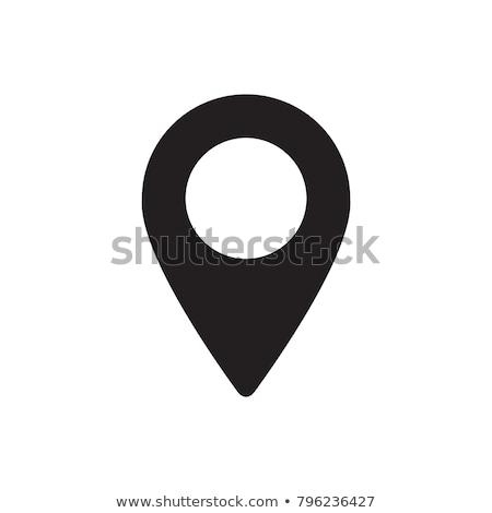 Icon pointer map, vector illustration. Stock photo © kup1984