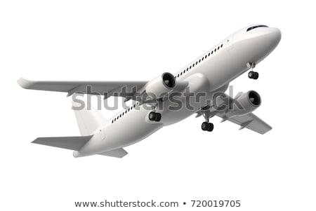 Nemzetközi repülőgép üzlet Föld kék repülőgép Stock fotó © bluering