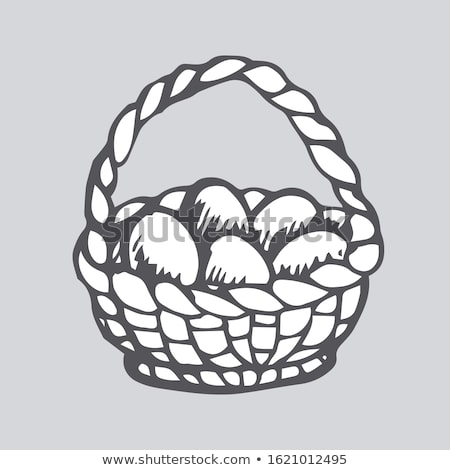 Wicker basket is hand-prepared, isolated on a white background.  Stock photo © justinb