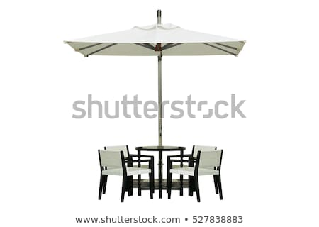 A table with an umbrella Stock photo © bluering