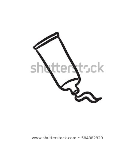 зубная · паста · трубка · три · иллюстрация · белый · моде - Сток-фото © rastudio