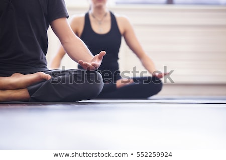 yoga man in studio Stock photo © cynoclub