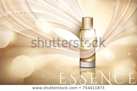 bottle of champagne on a silk background Stock photo © Panaceadoll