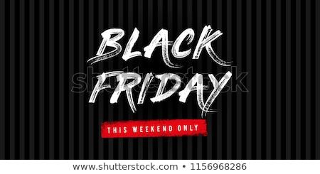 Tiszta black friday poszter tél fekete ünnep Stock fotó © SArts