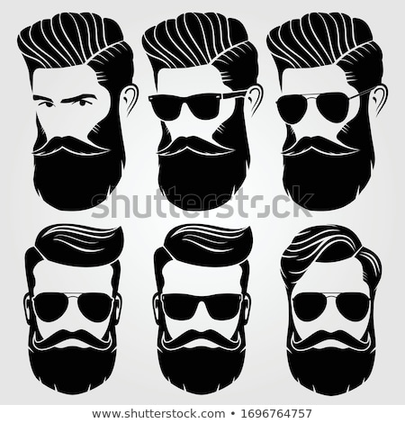 Hairstyle, mustache and beard hipster stock photo © Andrei_