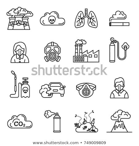 Nuclear contamination line icon. Stock photo © RAStudio