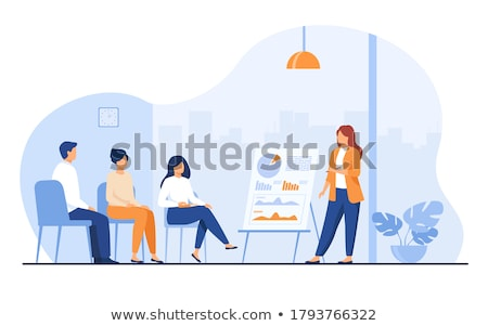 Stockfoto: Business · karakter · werk · meisje · vrouwen · leraar