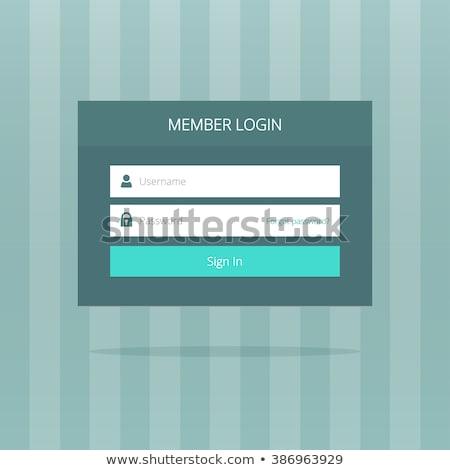 flat dark login box interface design with shadow Stock photo © SArts