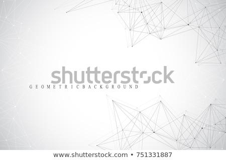 Stock fotó: Drótváz · absztrakt · 3D · kaotikus · részecskék · arany