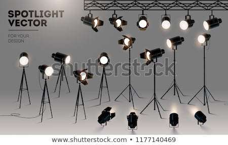 realistic stage lights or concert spotlights vector transparent stock photo © sarts