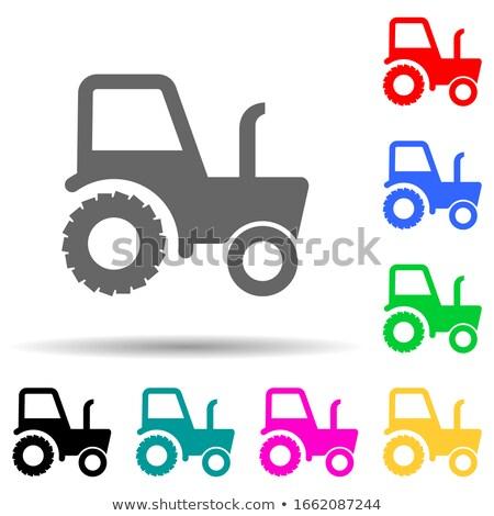 tracteur · champs · travaux · ensoleillée · été · jour - photo stock © davidgn