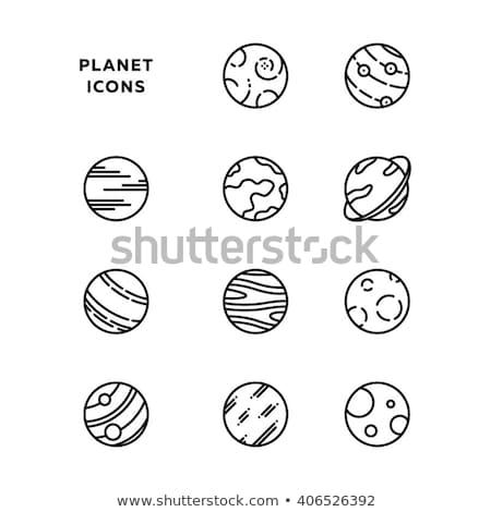 Planet Jupiter Icon Stock photo © robuart