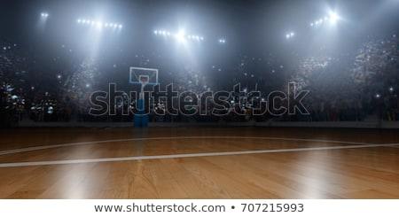 баскетбольная · площадка · оранжевый · мяча - Сток-фото © albund