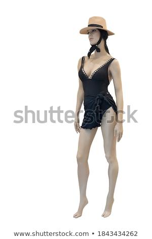 model · paars · cardigan · geïsoleerd · witte · vrouw - stockfoto © gsermek