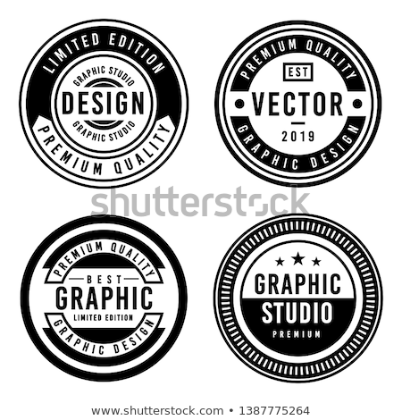 the best brand golden label and badge vector design Stock photo © SArts