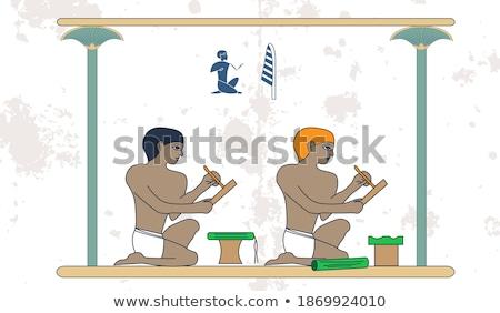 Kreatív ötlet személy ül sötét szoba Stock fotó © psychoshadow