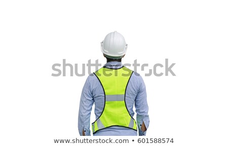 Asian people with safety helmet Stock photo © szefei