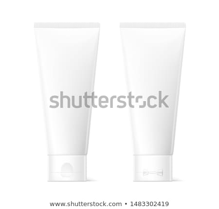 Branco tubo produto para cima cinza Foto stock © pakete
