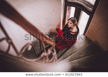 Nina posando jóvenes mujer hermosa edad Foto stock © tekso