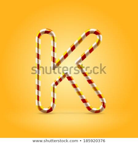 письме конфеты шрифт алфавит леденец Сток-фото © MaryValery