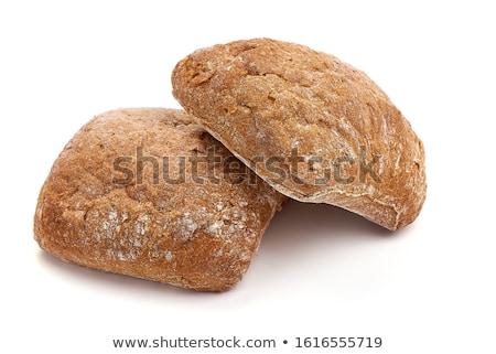Vers volkoren twee groene plaats brood Stockfoto © Digifoodstock