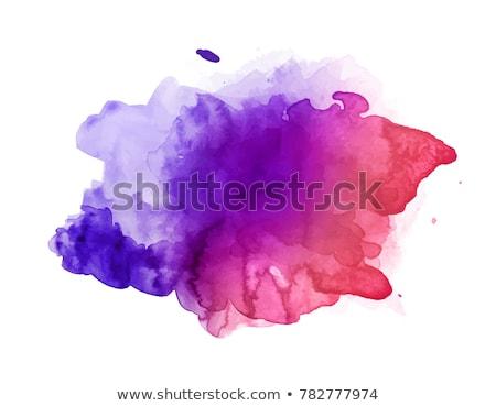 Paars Rood aquarel splash vlek vector Stockfoto © SArts