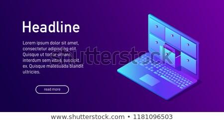 Dosya kart veritabanı 3D kelime Klasör Stok fotoğraf © tashatuvango