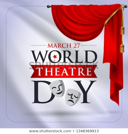 greeting card world theatre day stock photo © olena