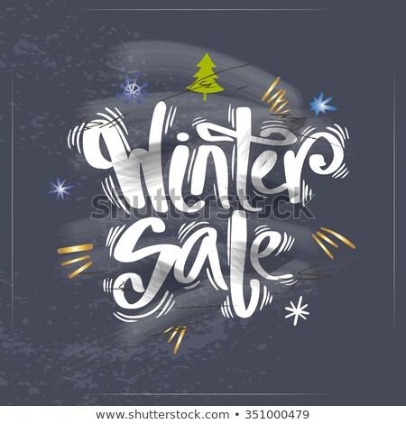 Stock fotó: Blackboard Winter Sale