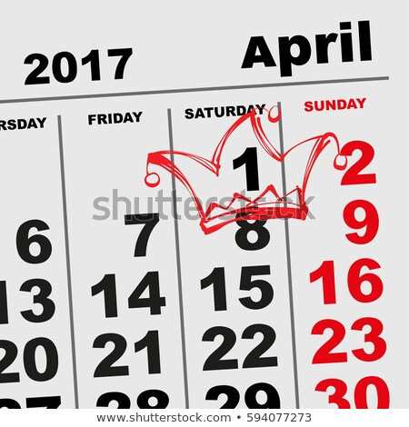 1 April Fools Day. Calendar reminder hat Stock photo © orensila