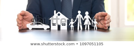 silhouette of  insurance home Stock photo © Olena