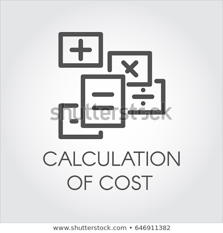 concept of calculation debit and credit, Stock photo © Olena