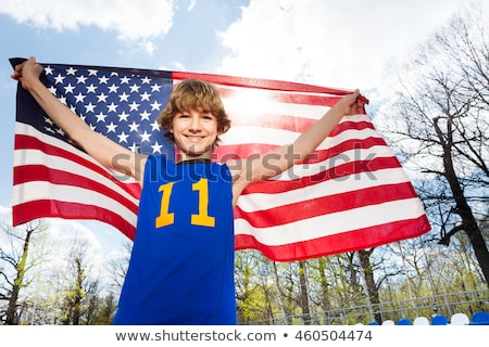 athlete holding flag Stock photo © IS2
