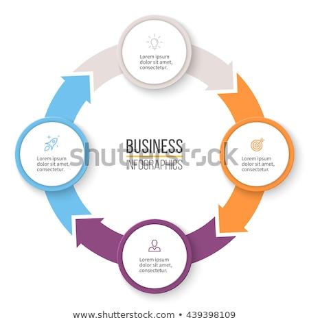 Quattro opzioni bianco infografica modello web Foto d'archivio © SArts