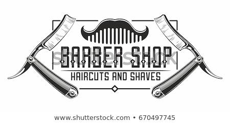 Old Straight razor vector Stock photo © smoki