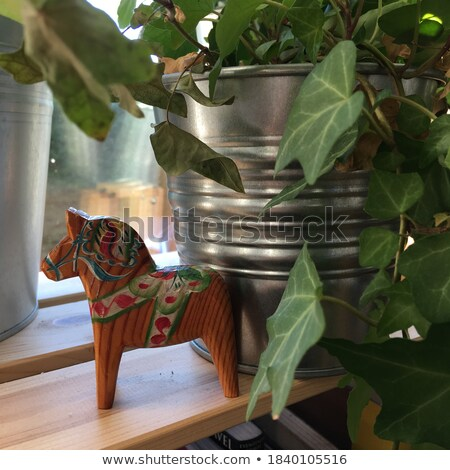 Carved Wooden Soldier and Horse Stock photo © smartin69