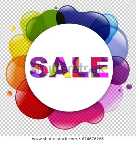 продажи плакат диалог шаре цвета градиент Сток-фото © cammep
