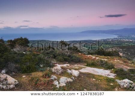 güneş · arkasında · akdeniz · deniz · Kıbrıs · hdr - stok fotoğraf © Mps197