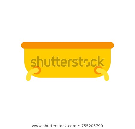 Gold Bath isolated. Expensive Bathroom. Vector illustration Stock photo © MaryValery