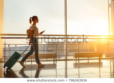 stress · zakenvrouw · lopen · laat · klok · arm - stockfoto © alexanderandariadna