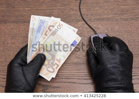 Online hacker steals Euro money from computer Stock photo © studiostoks