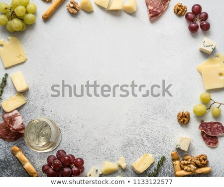 camembert, grape and walnut Stock photo © M-studio