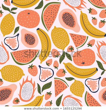 Cute Cartoon плодов лице дети фрукты Сток-фото © kariiika