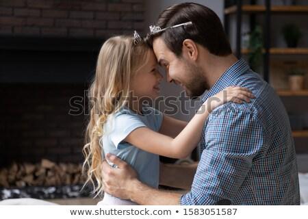Broer zus voorhoofd kind zomer Stockfoto © IS2