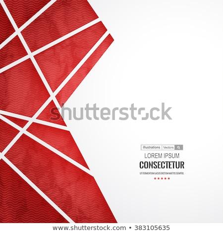 ビジネス · デザイン · 赤 · 抽象的な · ベクトル · 要素 - ストックフォト © Diamond-Graphics