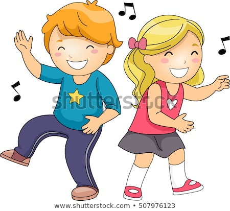 Stock photo: Kids Freeze Dance Music Notes