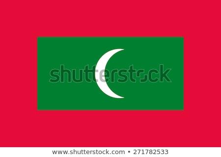 Maldive bandiera bianco luna sfondo segno Foto d'archivio © butenkow