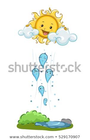 Maskot yoğunlaşma su buhar örnek maskotları Stok fotoğraf © lenm