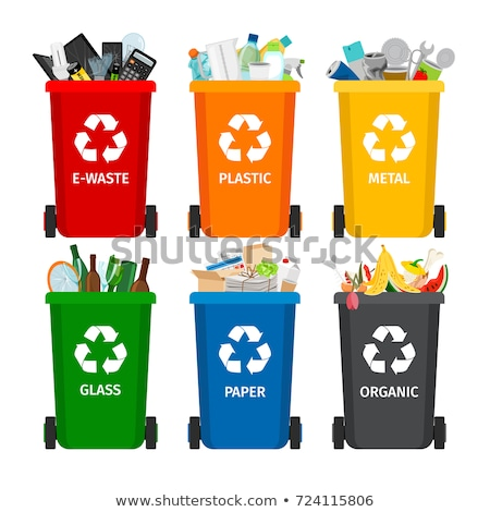 красный · Recycle · мусора · металл · символ - Сток-фото © andrei_